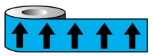 PIPELINE ID BLACK ARROWS ON LIGHT BLUE (20E51) 50MM X 33M