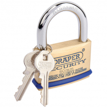 SOLID BRASS PADLOCK 60MM DRAPER