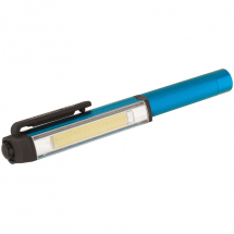3W COB LED ALUMINIUM POCKET TORCH (3 X AAA BATTERY INC)