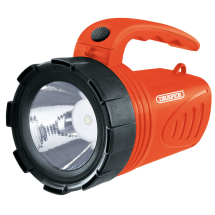 LED RECHARGEABLE SPOTLIGHT 3W TORCH - DRAPER - RED
