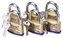 6 K/ALIKE S/B PADLOCKS 60MM