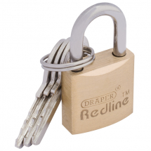 BRASS PADLOCK-20MM DRAPER