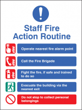 STAFF FIRE ACTION ROUTINE