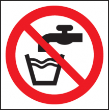 NOT DRINKING WATER (SYMBOL)
