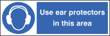 USE EAR PROTEC IN THIS AREA