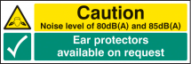 NOISE LEVEL 80DB(A) & 85DB(A) EAR PROTEC AVAILABLE ON REQ