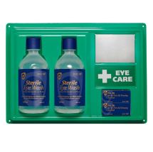 EYEWASH STATION  2X500ML 2XNO16, CREST MEDICAL