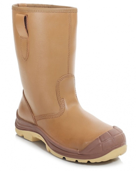 PB42LC Tan Fur Lined Rigger Boot S3