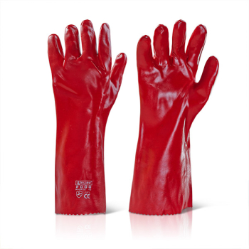 PVC Gauntlet Red