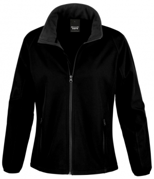 R231F Ladies Black Lightweight Softshell Jacket