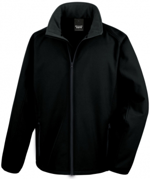 R231M Mens Black Lightweight Softshell Jacket