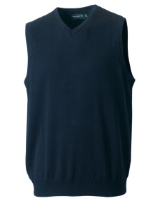 716M Russell Collection V-Neck Sleeveless Knitted Pullover