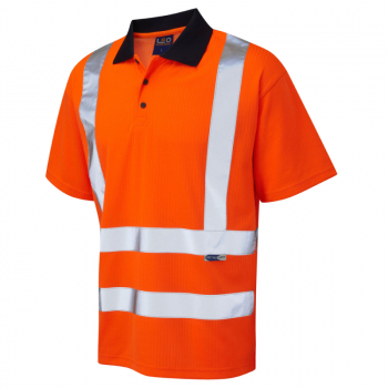 P01 Croyde Short Sleeve Poloshirt Orange