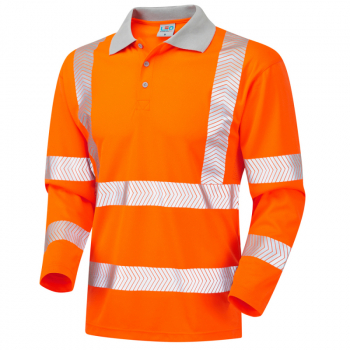 P08 Barricane Coolviz Plus Sleeved Poloshirt Orange