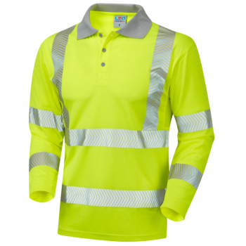 P08 Barricane Coolviz Plus Sleeved Poloshirt Yellow