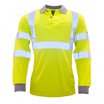 FR77 FR AS Hi-Viz Long Sleeve Poloshirt