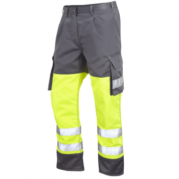 CT01 Bideford Poly/Cotton Cargo Trouser Yellow/Grey