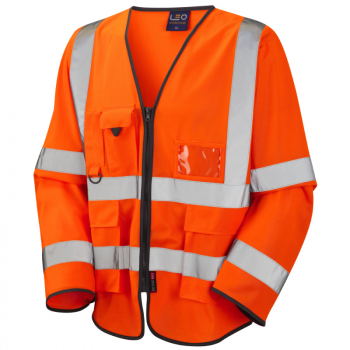 S12 Wrafton Sleeved Superior Waistcoat Orange