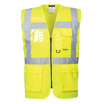 CV76 - Yellow Social Distancing Executive Vest 2m