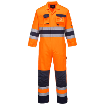 TX55 Nantes Hi Vis Coverall Orange/Navy