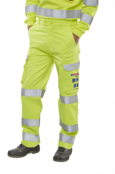 CARC5SY Arc Compliant Hi Viz Yellow Trousers