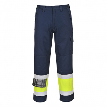 MV26 Hi-Vis Modaflame Trouser Yellow / Navy