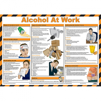 Alcohol at Work Guidance Poster - Size A2