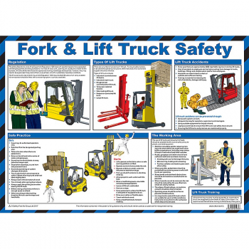 Fork & Lift Truck Safety Poster - Size A2