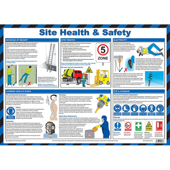 Site Health & Safety Guidance Poster - Size A2