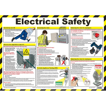 First Aid Electrical Safety Poster - Size A2