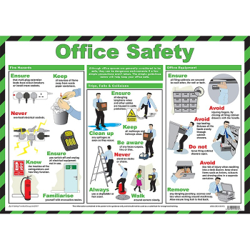 Office Safety Guidance Poster - Size A2