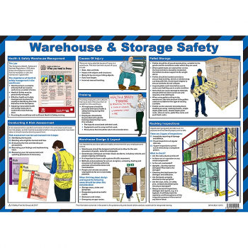Warehouse & Storage Safety Guidance Poster - Size A2