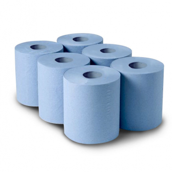 CENTRE PULL WIPE BLUE ROLL PER CASE - PK OF 6