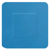 HYGIO PLAST BLUE DETECTABLE PLASTERS SQUARE 38x38mm