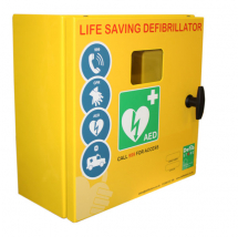 DEFIBRILLATOR MILD STEEL CABINET NO LOCK & ELECTRICS