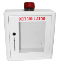 DEFIBRILLATOR MILD STEEL CABINET INTERNAL WHITE