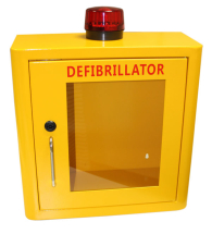 DEFIBRILLATOR MILD STEEL CABINET INTERNAL YELLOW