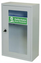 INDOOR DEFIBRILLATOR CABINET WITH THUMB LOCK