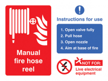 MANUAL FIRE HOSE REEL WITH INSTRUCTIONS FOR USE
