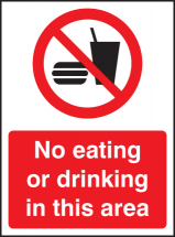NO EATING OR DRINKING IN THIS AREA