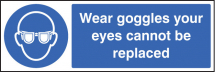 WEAR GOGGLES YOUR EYES CANNOT BE REPLACED