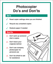 PHOTOCOPIER - DO'S & DONT'S