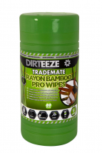 DIRTEEZE BAMBOO ECO WET WIPES DEGREASER - TUB OF 80