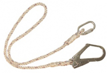 SINGLE LANYARD C/W HOOK & CARABINER