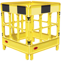 4-GATE WORKGATE BARRIER C/W YELLOW BLACK PANEL