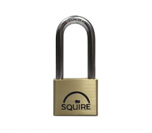 50MM PREMIUM BRASS PADLOCK D/LOCKING LONG SHACKLE-SQUIRE