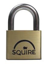 50MM PREMIUM BRASS PADLOCK 5 PIN DOUBLE LOCKING - SQUIRE
