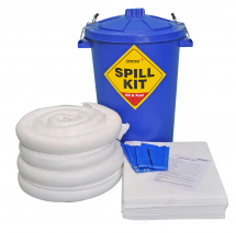 80lt BLUE DRUM SPILL KIT