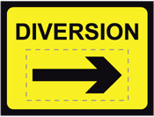 DIVERSION C/W REV ARROW