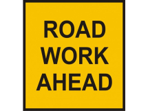 ROAD WORKS AHEAD (SPECIAL) PLATE 1050mm X 750mm
